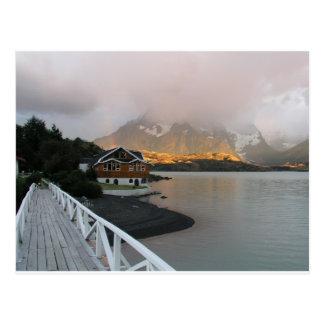 Carte Postale Montagnes et lac, Chili