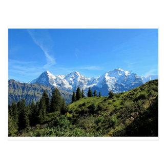 Carte Postale Montagnes majestueuses de la Suisse belles