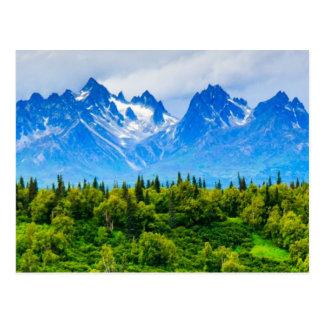 Carte Postale Montagnes majestueuses de l'Alaska