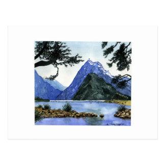 Carte Postale Montagnes pour aquarelle