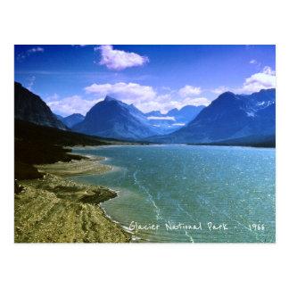 Carte Postale Montagnes rétro 1966 du Montana de parc de nation