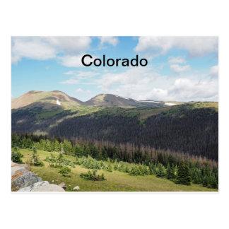 Carte Postale montagnes rocheuses dans le Colorado