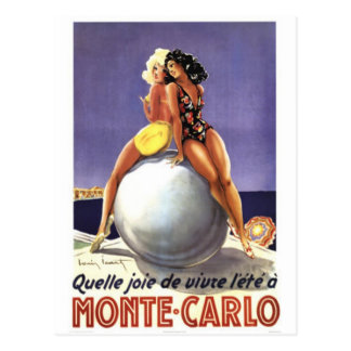 Carte Postale Monte Carlo vintage, Monaco -