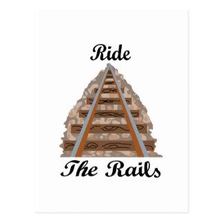 Carte Postale Montez les rails