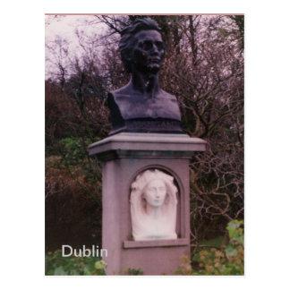 Carte Postale Monument de James Clarence Mangan, Dublin, Irlande