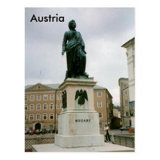 Carte Postale Monument de Mozart, Mozartplatz, Salzbourg,