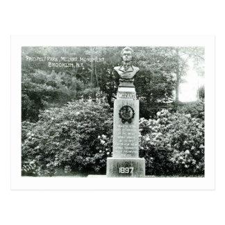 Carte Postale Monument de Mozart, parc de perspective, cru de