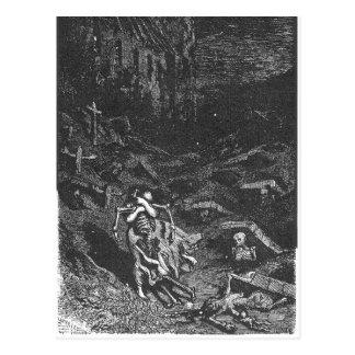 Carte postale morte de cimetière