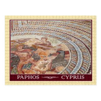 Carte Postale Mosaïque antique de plancher dans Paphos, Chypre