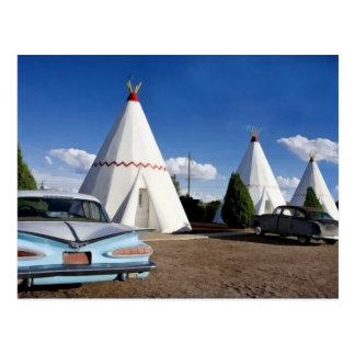 Carte Postale Motel de tipi, itinéraire 66