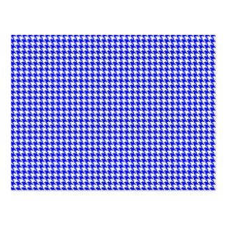 Carte Postale Motif bleu de pied-de-poule