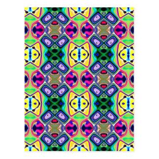 Carte Postale Motif coloré de chaux de citron
