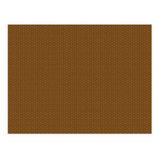 Carte Postale Motif de flocons de neige de Brown