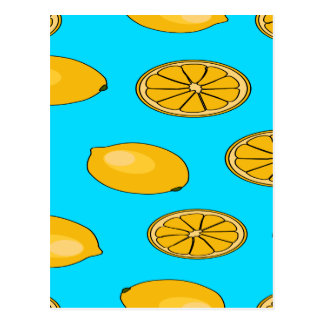 Carte Postale Motif de fruit de citron