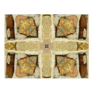 Carte Postale Motif de kaléidoscope de mur en pierre
