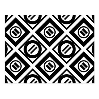 Carte Postale Motif géométrique de signe d'égalité noir sur le