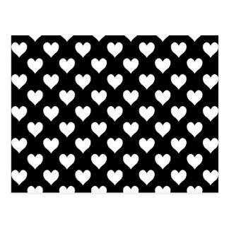 Cartes postales motif noir blanc coeur personnalis es - Motif noir et blanc ...
