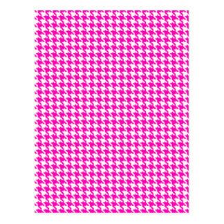 Carte Postale Motif rose de pied-de-poule