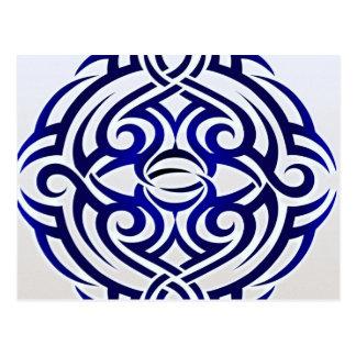 Carte Postale Motif tribal de tatouage