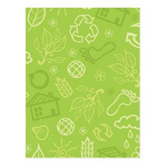 Carte Postale Motif vert de l'environnement d'Eco