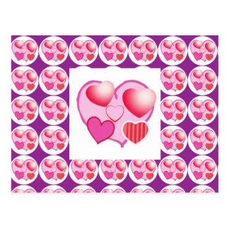 Carte Postale Motifs d'amoureux : Thème rose