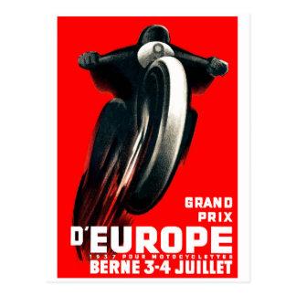 Carte Postale Moto de Grand prix de 1939 Européens emballant