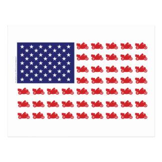 Carte Postale Moto patriotique de croiseur de sport