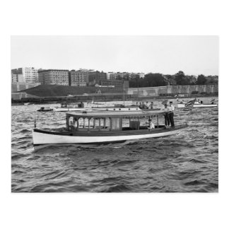 Carte Postale Motorboating sur le fleuve Hudson, 1910