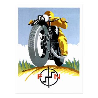 Carte Postale Motos 1925 F-N annonçant l'affiche