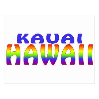 Carte Postale Mots d'arc-en-ciel de Kauai Hawaï