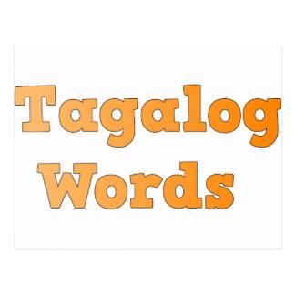 Carte Postale Mots de Tagalog