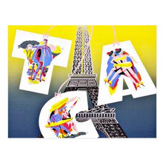Carte Postale Mouche de Paris avec des lignes aériennes du