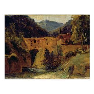 Carte Postale Moulin dans la vallée près d'Amalfi, 1829