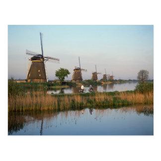 Carte Postale Moulins à vent, Kinderdijk, Pays-Bas