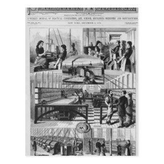 Carte Postale Moulins de la société de toile de Willimantic