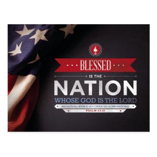 Carte Postale Mousepad patriotique - vers de bible de 33:12 de