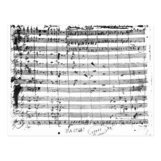 Carte Postale Ms.1548 Ouverture de l'opéra 'Don Giovanni