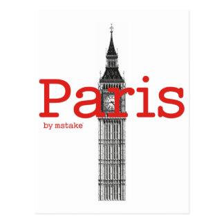 Carte Postale Mstake de Paris et de Londres