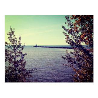 Carte Postale Mur de coupure du lac Supérieur