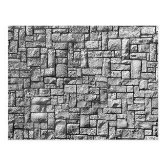 Carte Postale Mur en pierre gris