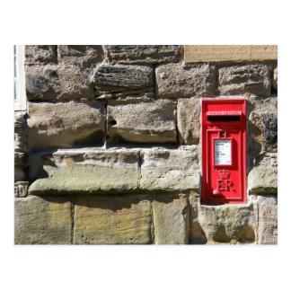 Carte Postale Mur en pierre Letterbox