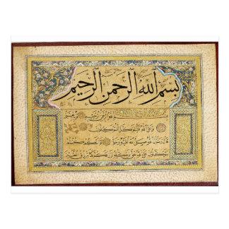 Carte Postale Murakka (album calligraphique) par Hafiz Osman