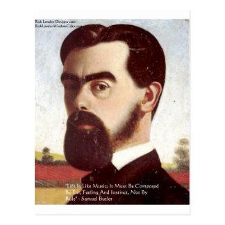 Carte Postale Musique de Samuel Butler cadeaux de citation de