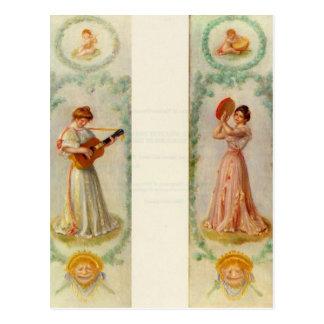 Carte Postale Musique (deux peintures) par Pierre-Auguste Renoir