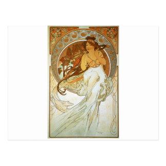 Carte Postale Musique par Alphonse Mucha