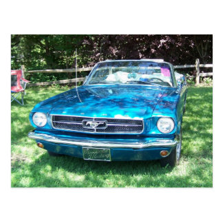 Carte Postale Mustang turquoise chaud
