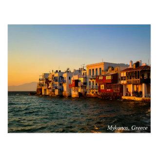 Carte Postale Mykonos peu de coucher du soleil quart de Venise,