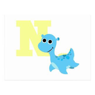 Carte Postale N est pour le Nessie