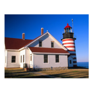 Carte Postale Na, Etats-Unis, Maine.  Phare occidental de Quoddy