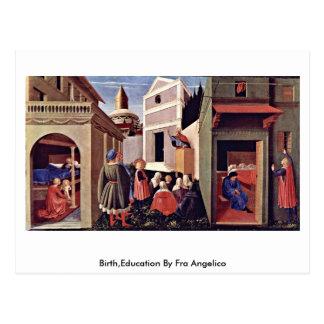Carte Postale Naissance, éducation par ATF Angelico